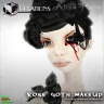 _Rose goth 3d make up