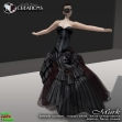 Murk - mesh gothic female dress